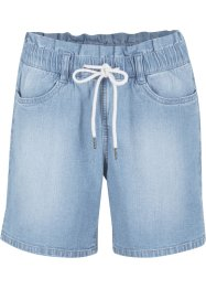 Paperbag stretch short van katoen met comfortband, bpc bonprix collection
