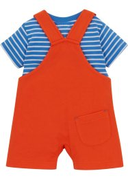 Baby T-shirt en sweat tuinbroek (2-dlg. set) biologisch katoen, bpc bonprix collection