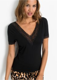 Shirt met kant, BODYFLIRT boutique