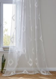 Transparant gordijn met borduursel (1 stuk), bpc living bonprix collection
