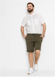 Regular fit chino bermuda van biologisch katoen, straight, bpc bonprix collection