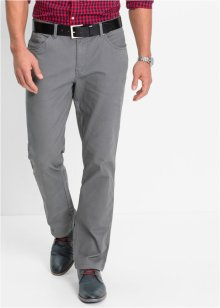 Stretchbroek slim fit straight, bpc bonprix collection, rookgrijs