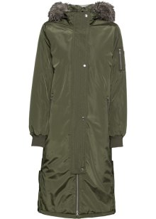 Lange outdoor jas met een afneembare capuchon en