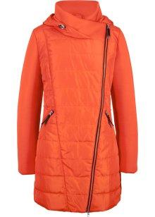 Sportieve, gewatteerde jas in een draagtas donkerblauw
