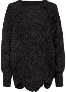 Mooie trui in ribgebreide look met een asymmetrische
