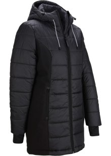 Gewatteerde jas van gerecycled polyester met handige