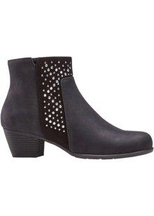 Tijdloze laarzen met een fraai design zwart