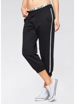3/4-joggingbroek, bpc bonprix collection, zwart