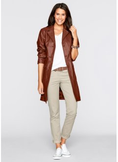 Leren jas, bpc bonprix collection, cognac
