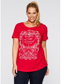 Shirt, bpc bonprix collection, rood met print