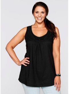 Top, bpc bonprix collection, zwart
