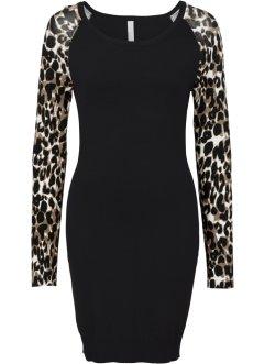 Lange zwarte jurk bonprix
