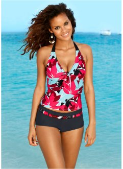 Tankini (2-dlg. set), bpc bonprix collection, zwart/turkoois