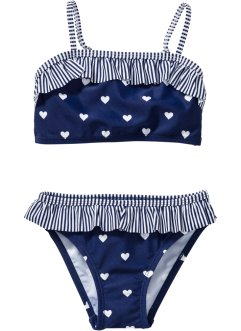 Bikini (2-dlg. set), bpc bonprix collection, blauw/wit