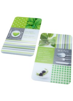 Fornuisafdekplaten «Menu» (2-dlg. set), bpc living