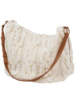 Gebreide tas, bpc bonprix collection, wolwit