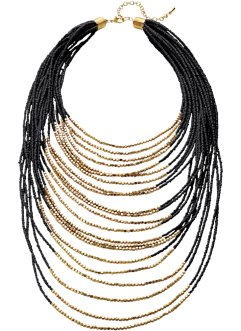 Collier, bpc bonprix collection, zwart/goudkleur