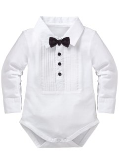 Babyrompertje, bpc bonprix collection, wit/zwarte vlinderdas