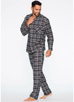 Pyjama, bpc bonprix collection, grijs geruit