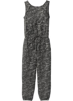 Jumpsuit, bpc bonprix collection, zwart/grijs gedessineerd