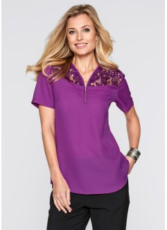 Blouse, bpc selection, violet