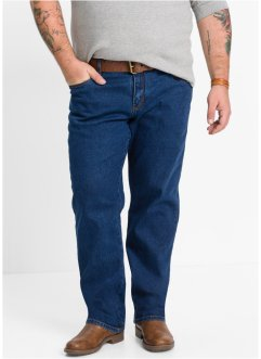 Stretchjeans classic fit tapered, John Baner JEANSWEAR, donkerblauw