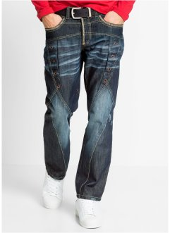 Jeans regular fit straight, RAINBOW, dark blue used