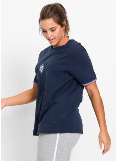 Longshirt, bpc bonprix collection, donkerblauw/lichtpaars