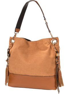 Shopper, bpc bonprix collection, cognac/goudkleur