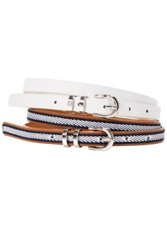 Riem (2-dlg. set), bpc bonprix collection, wit/bruin/donkerblauw