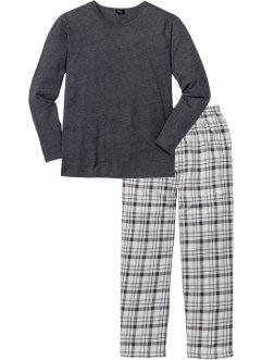 Pyjama (2-dlg.), bpc bonprix collection, antraciet gemêleerd geruit
