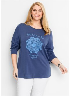 Sweatshirt, bpc bonprix collection, indigo met print