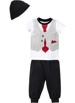 T-shirt+broek+muts (3-dlg. set), bpc bonprix collection