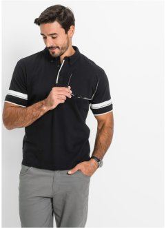 Poloshirt, bpc bonprix collection, zwart/wit