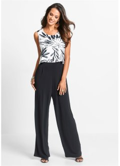 Jumpsuit, bpc selection, zwart/wit