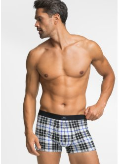 Boxershort (set van 3), bpc bonprix collection, geruit/zwart