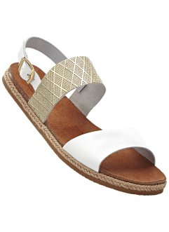 Sandalen, bpc bonprix collection, wit/goudkleur