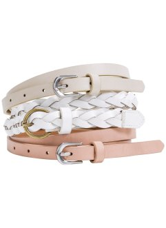 Riem (3-dlg. set), bpc bonprix collection, kiezelbeige/zalmroze/wit