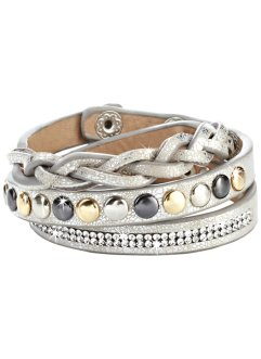 Armband, bpc bonprix collection, metallic beige/zilverkleur