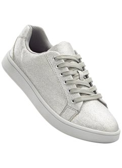 Sneakers, bpc selection, zilverkleur glitter
