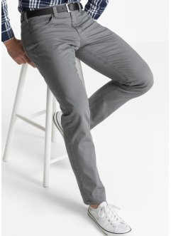 5-pocket-broek regular fit straight, bpc bonprix collection, rookgrijs