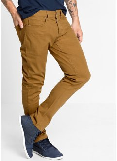 Broek slim fit straight, RAINBOW, cognac