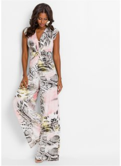 Jumpsuit, BODYFLIRT boutique, geel/roze gedessineerd
