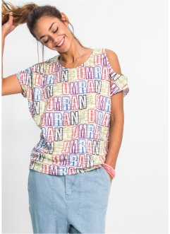 Shirt, RAINBOW, wit/multicolor gedessineerd