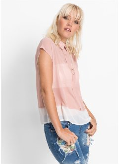 Blouse, RAINBOW, oudroze/wit gedessineerd