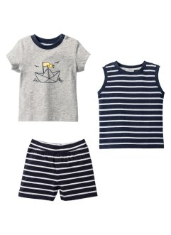 T-shirt+top+short (3-dlg. set), bpc bonprix collection