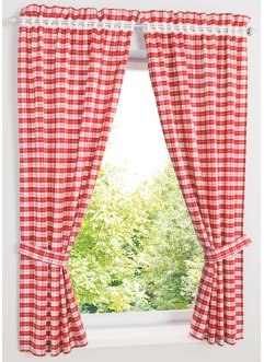 Gordijn met print en embrasse (4-dlg. set), bpc living bonprix collection