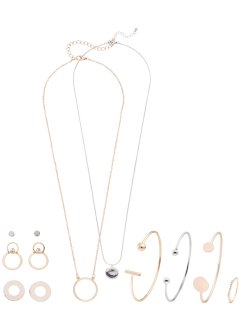 Halsketting+armband+oorbellen (11-dlg. set), bpc bonprix collection