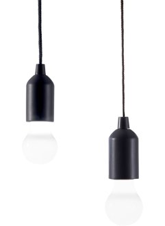 Led-lamp «Black & White» (2-dlg. set), bpc living