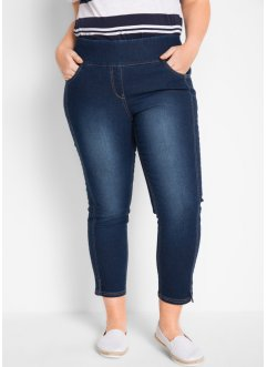 High waist 7/8 stretch jeans met brede band, bpc bonprix collection